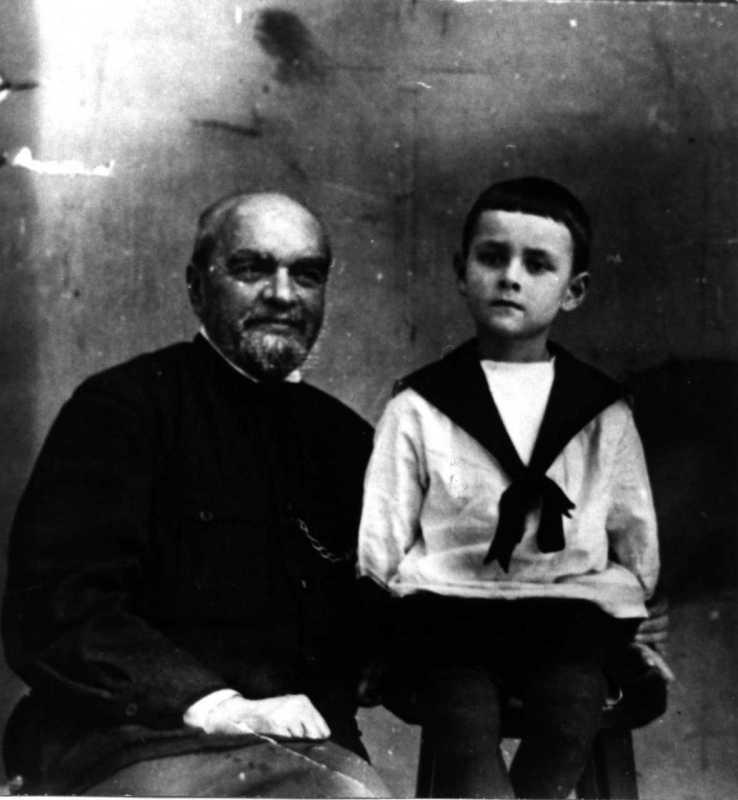 П.П.Потоцький з онуком Павлусем